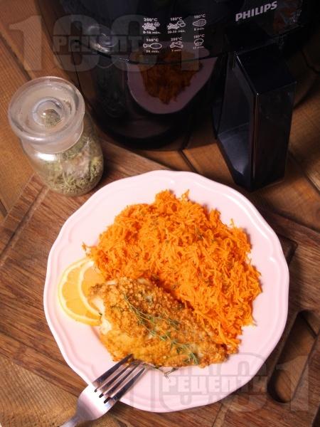 Здравословно лимоново пиле с мащерка и пармезанова коричка в AirFryer - снимка на рецептата